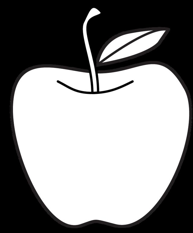 Apple Line Drawing at GetDrawings