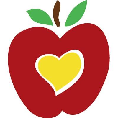 Apple milk vector clip. Hearts clipart school