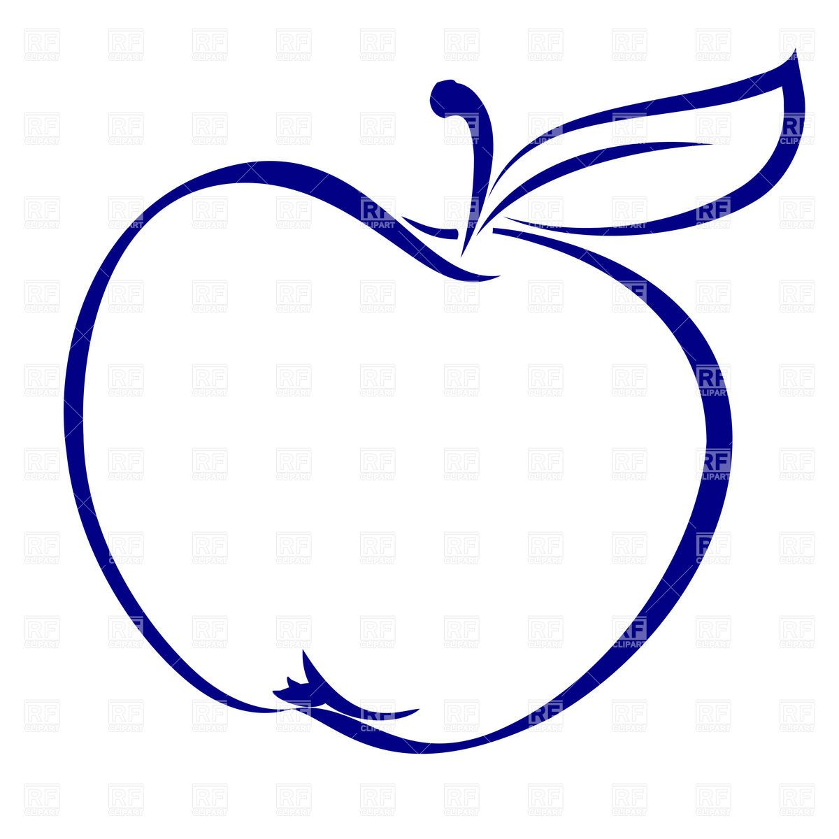 Apple shape outline vector. Battle clipart simple
