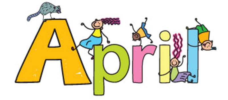 April clipart. For free download best