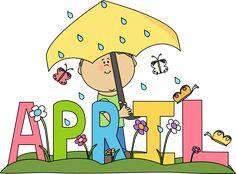Free month clip art. April clipart