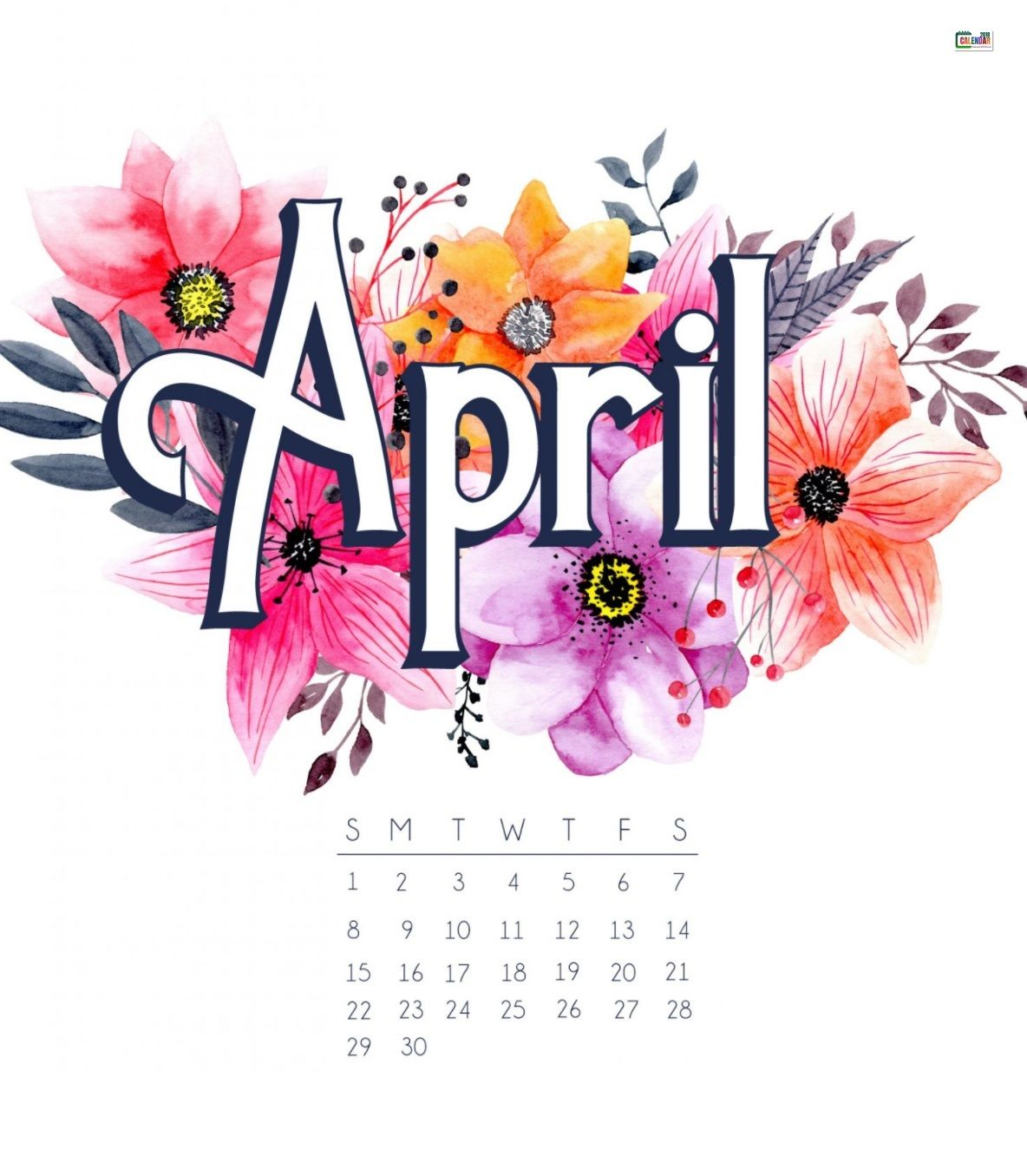 April clipart april 2018. Free iphone calendar wallpaper