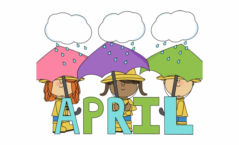 April clipart april 2018. Shower calendar clip art