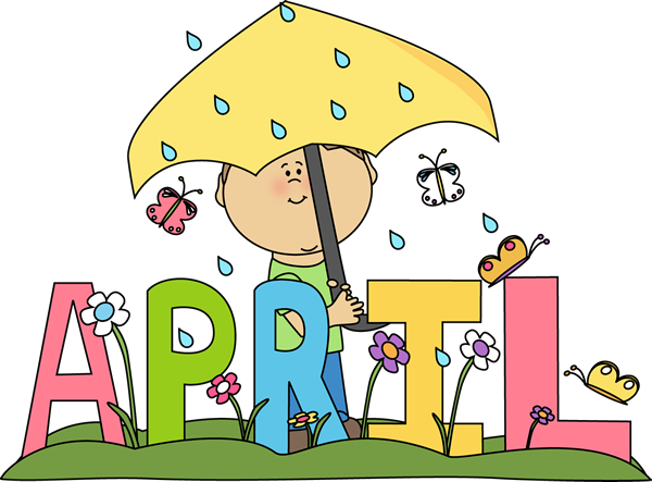 Newsletter and now rain. April clipart april 2018