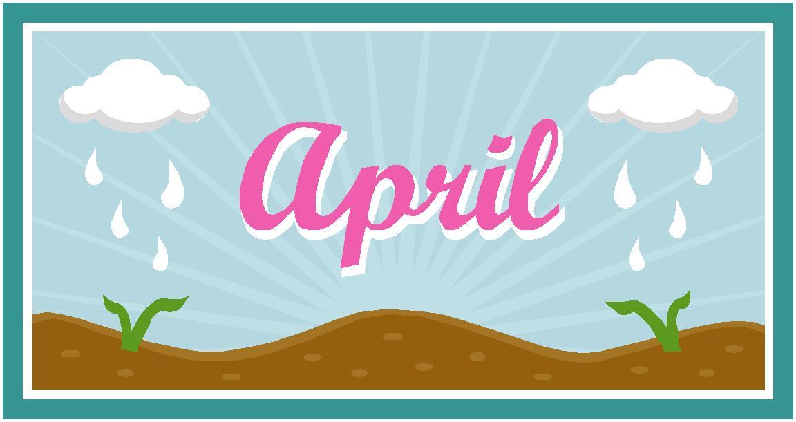 April clipart banner. Strange holidays in hubpages