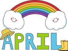 April clipart banner. Free month clip art