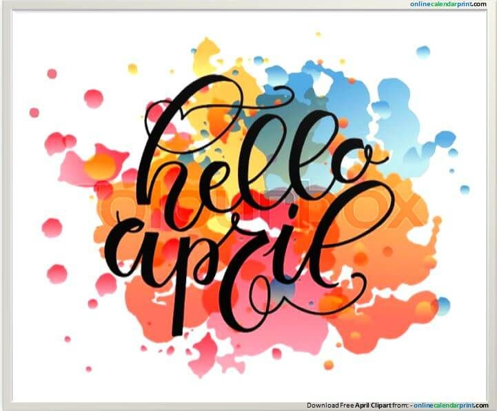 April clipart banner. Pin by walker join