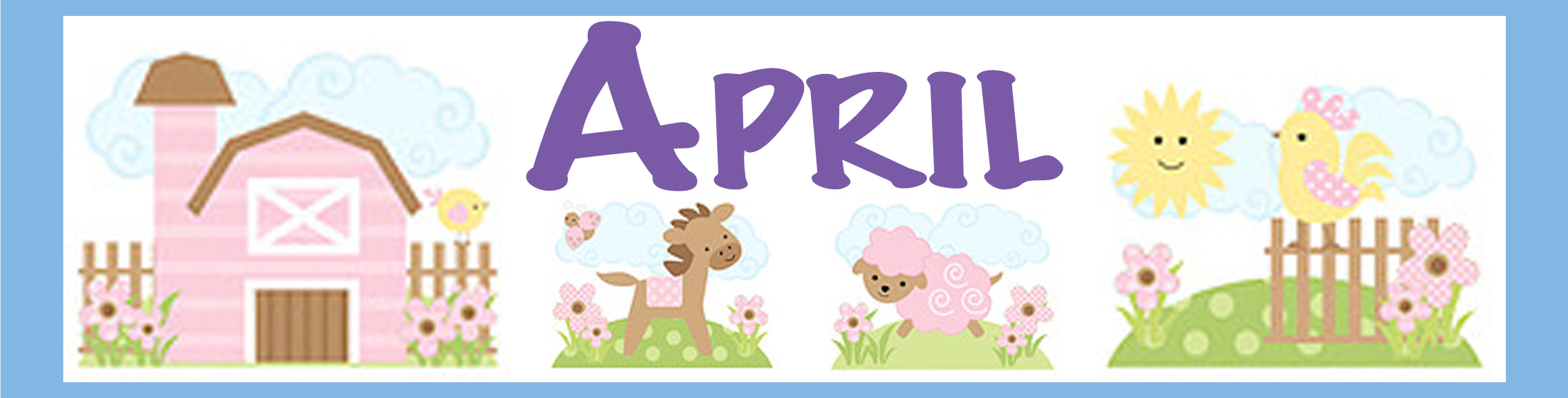 Curriculum itsy bitsy scholars. April clipart banner