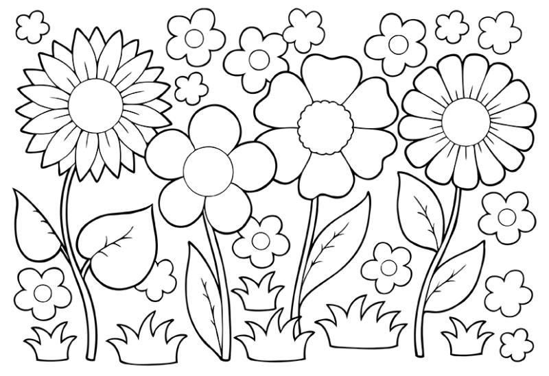 May flowers clip art. April clipart black and white