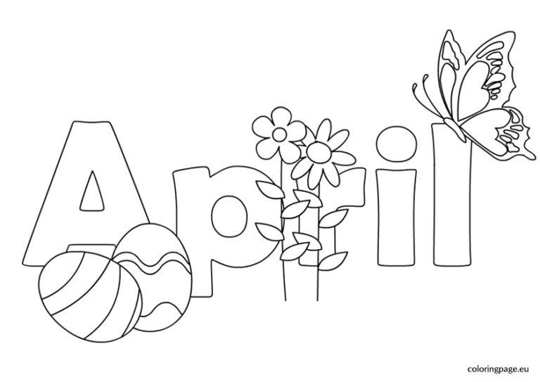 April clipart black and white. Clip art free printable