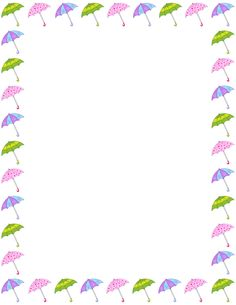 This page was designed. April clipart border design