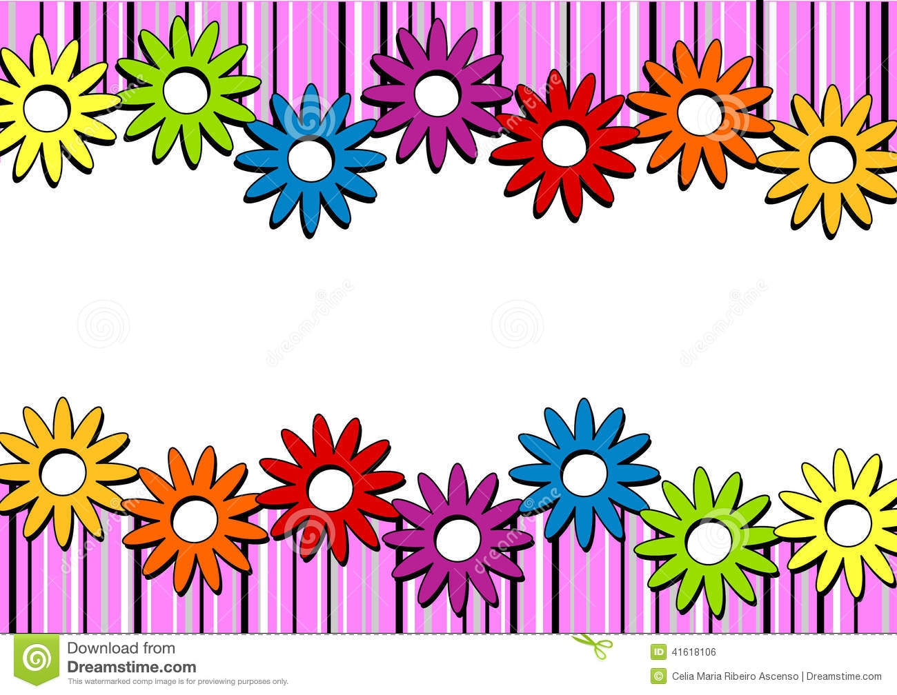 April clipart border design. Flower cilpart crafty ideas