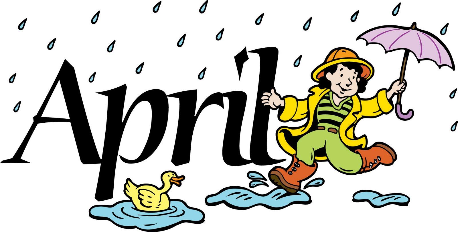 . April clipart borders