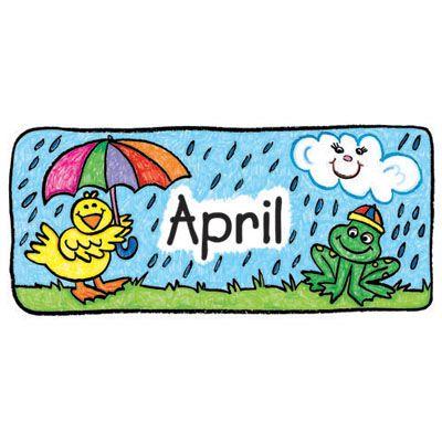 Clip art calendar set. April clipart borders