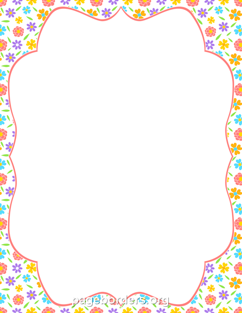 Border clipart spring. Printable flower use the