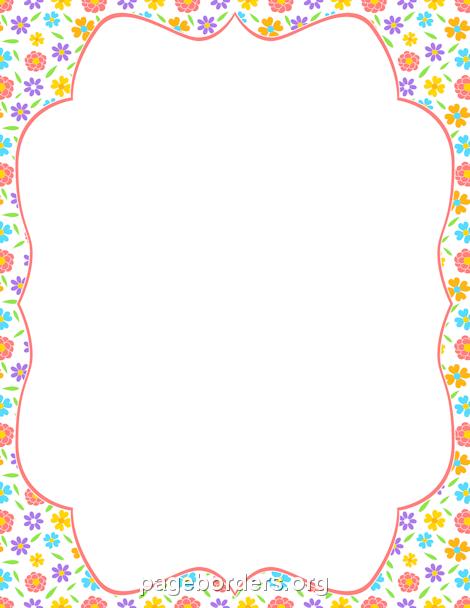 Boarder clipart spring. Printable flower border use