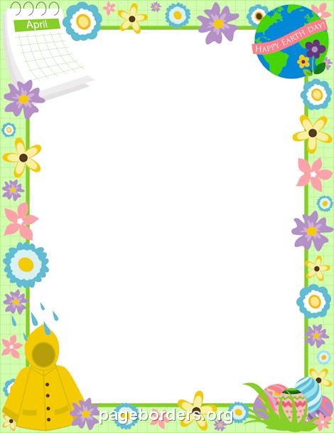 April clipart borders. Printable border use the