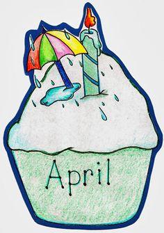 Birthdays . April clipart cake