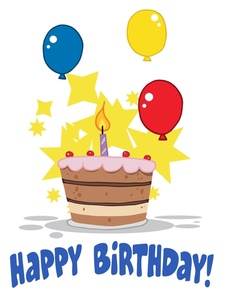 Big birthday bash tompkins. April clipart cake