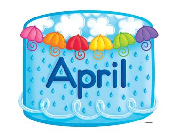 April clipart cake. Birthday printable clip art