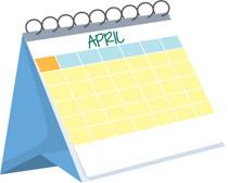 April clipart calendar. Free clip art pictures