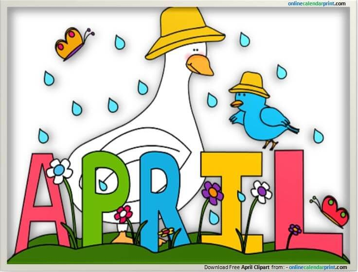 April clipart calendar. Pin by walker join