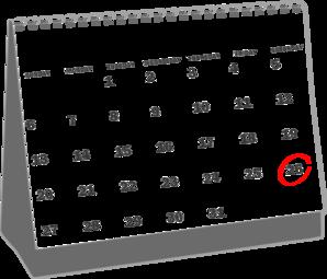 Calendar clipart april. Desk clip art at