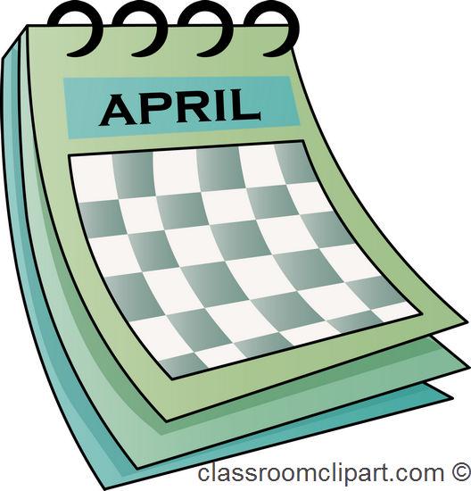 Calendar clipart april. Clip art dromfhi top