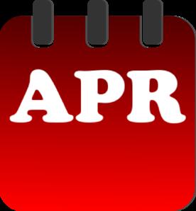 Clip art at clker. Calendar clipart april