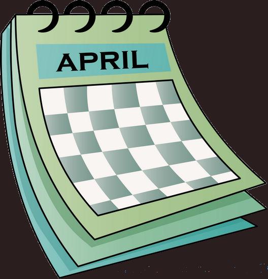 april clipart calendar