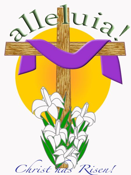 April clipart church. Resurrection sunday cedonia community