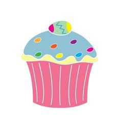 Pondertheirrelevant easter. April clipart cupcake