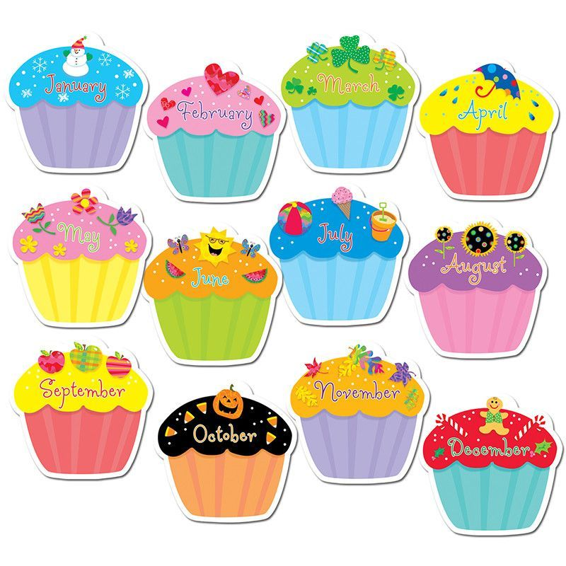 April clipart cupcake. Cupcakes jumbo cut outs