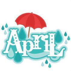 April clipart cute. Clip art for each