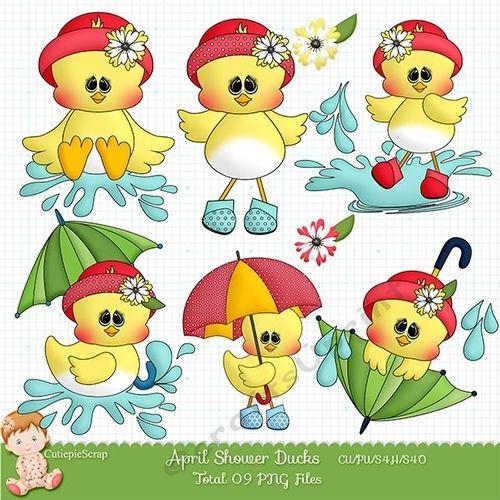 Ducks clipart rain clip art. April showers commercial use