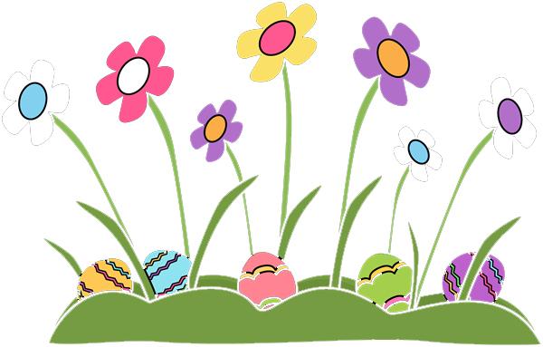 Children s egg hunt. April clipart easter