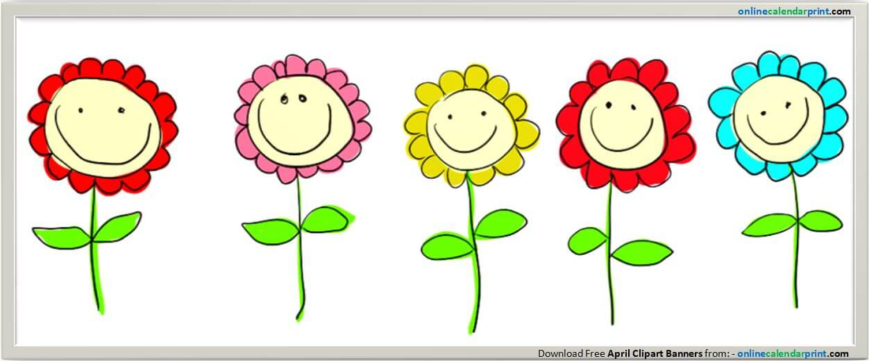 Banners free. April clipart flower