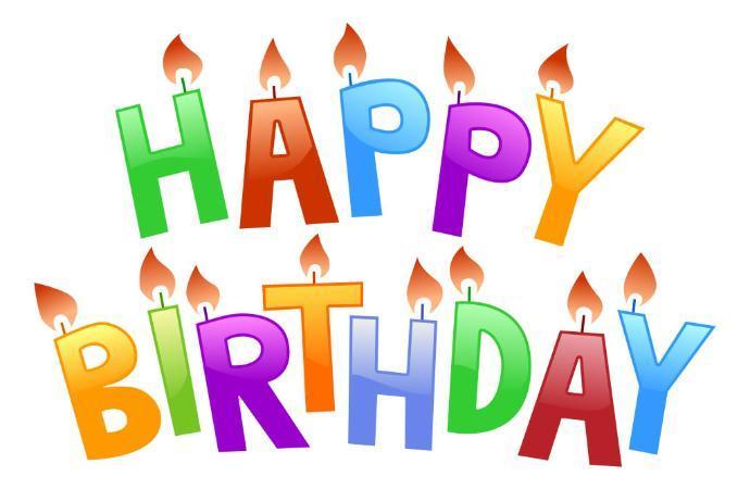 Clip art modern birthdays. April clipart happy birthday