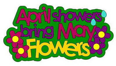 Showers bring flowers ece. April clipart may