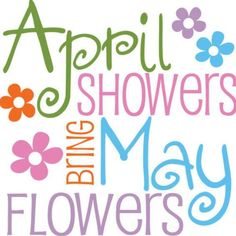 April clipart may. Showers bring flowers illustration