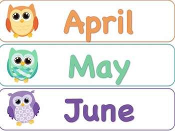 April clipart owl. Months of the year
