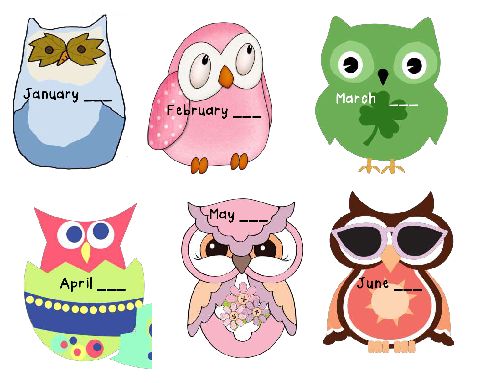 April clipart owl. Creations by mrs mouse