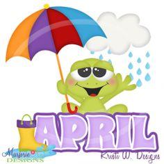 April clipart printable. Free month clip art
