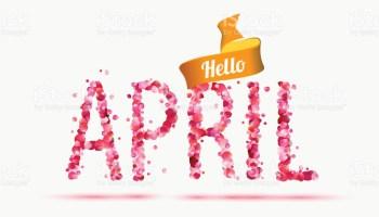 Hello. April clipart printable