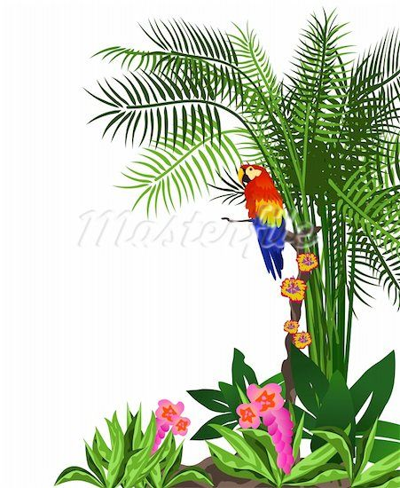 Jungle trees clip art. Rainforest clipart