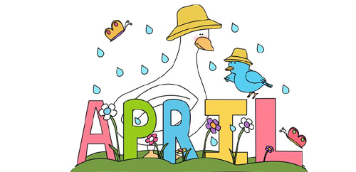 Parent calendar march may. April clipart school