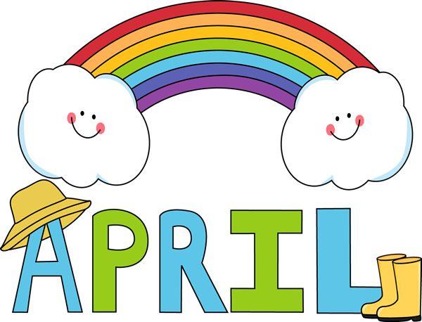 Month clip art for. April clipart teacher