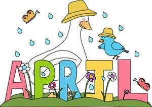 Clip art for teachers. April clipart teacher