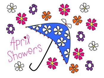 Showers and flowers clip. April clipart teacher