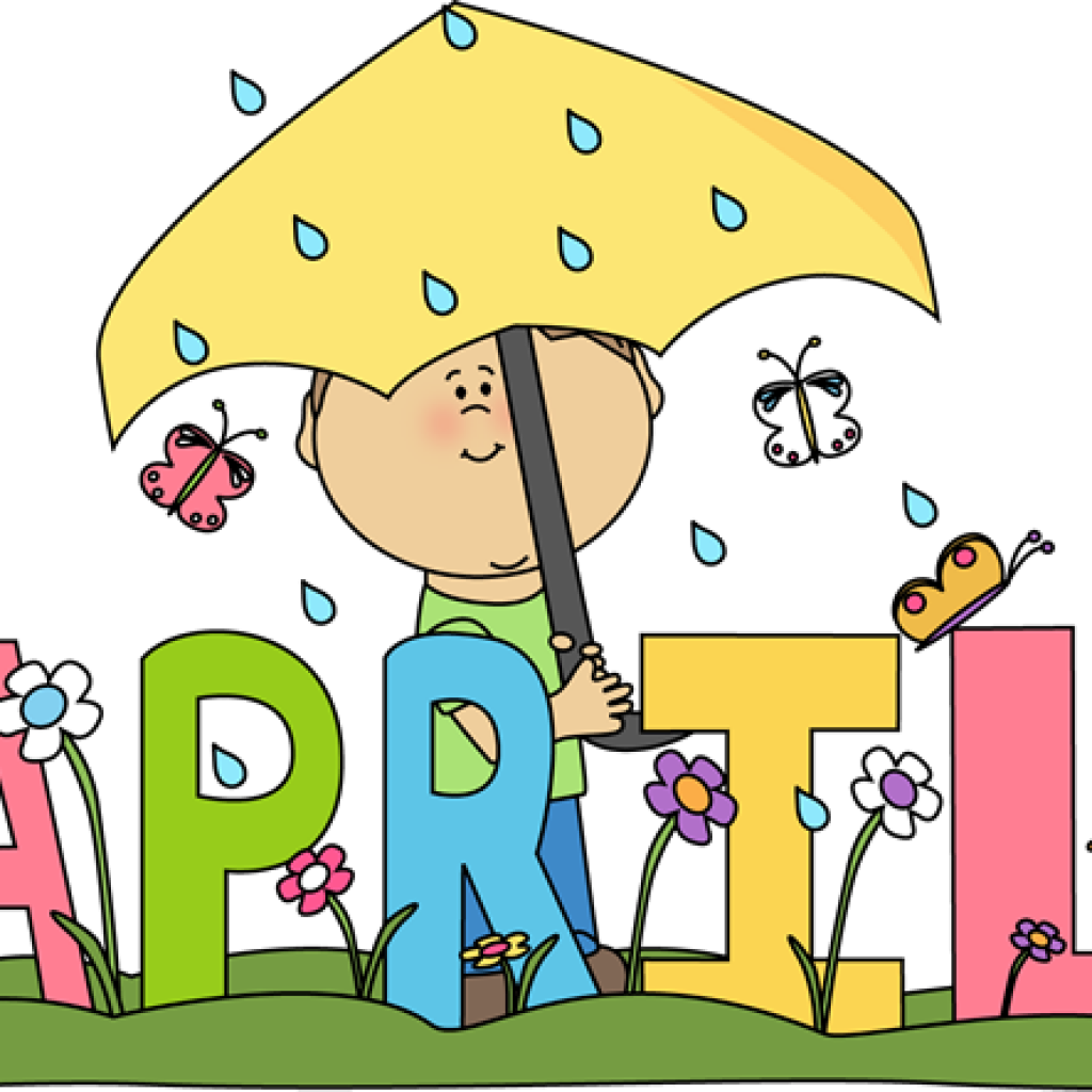 April clipart teacher. Showers butterfly hatenylo com
